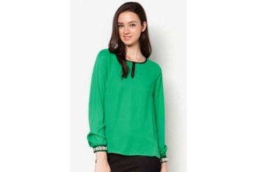 DressingPaula Embellished Long Sleeve Top