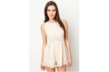 Something Borrowed Laser Cut Out Romper