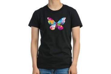 Abstract Butterfly Butterfly Women's Fitted T-Shirt dark by CafePress