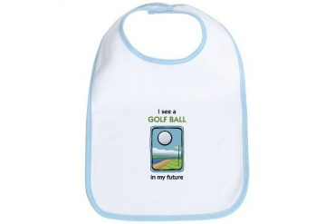 I see a Golf Ball in my Future Sports Bib by CafePress