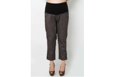 Slim Fit cropped pants with bottom details at hem