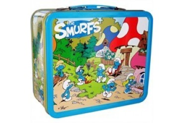 Smurfs Village Scene Metal Lunch Box