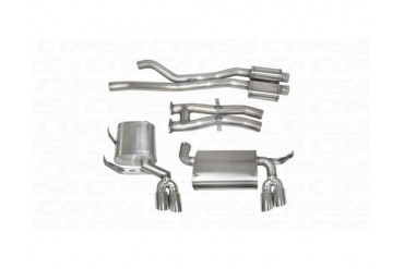 Corsa Polished Sport Cat-Back Exhaust BMW M3 E46 01-06