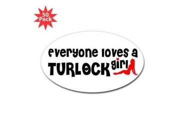 Everyone loves a Turlock Girl California Sticker Oval 50 pk by CafePress