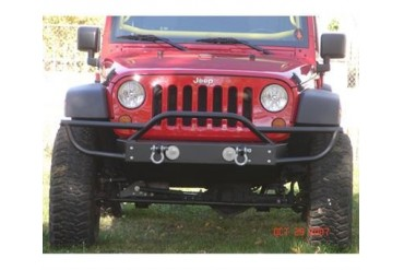 Rock Hard 4x4 Parts Shorty Front Bumper with Tube Extensions with Fog Lights  RH5003 Front Bumpers