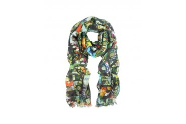 Mr Brown Film Strip Print Modal Scarf