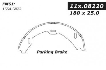 2000-2006 Mercedes Benz S430 Parking Brake Shoe Centric Mercedes Benz Parking Brake Shoe 111.08220 00 01 02 03 04 05 06