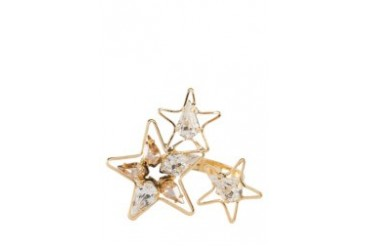 Triple Stars with Crystals Ring