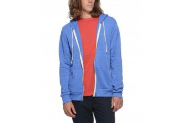 Alternative Apparel Eco-Fleece Hoodie Sweatshirt Royal Blue, XL