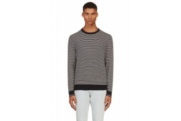 Rag And Bone Navy And White Striped Jayden Sweater