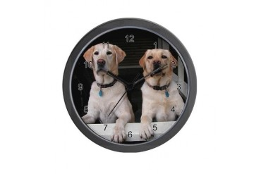 Aug Lab of the Month Pets Wall Clock by CafePress