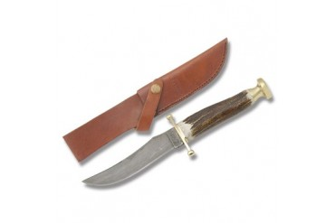 Marble's Damascus Hunter with Stag Handle