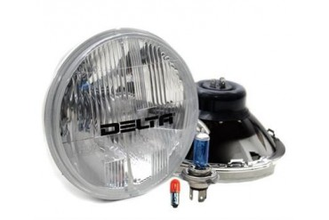"Delta Industries 7"" Round Headlight with Turn Signal Kit 01-1159-50XB Headlight Replacement"