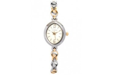 Twotone Plate Dress Watch With Champange Dial