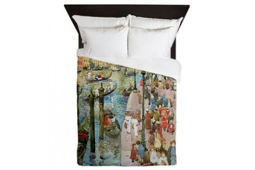 Maurice Prendergast Venice Grand Canal Vintage Queen Duvet by CafePress