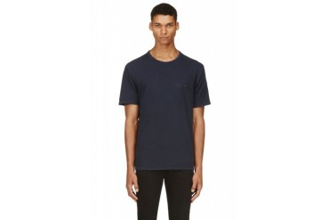 T By Alexander Wang Navy Distressed T shirt