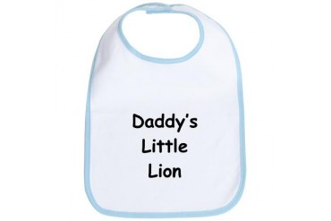 Daddy's Little Lion Sports Bib by CafePress