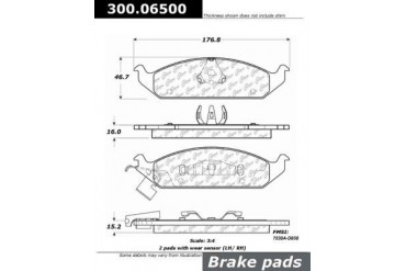 1996-2000 Plymouth Breeze Brake Pad Set Centric Plymouth Brake Pad Set 300.06500 96 97 98 99 00