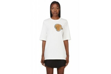 3.1 Phillip Lim White Poodle Patch T shirt