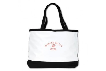 Spokane Valley Pink Girl Location Shoulder Bag by CafePress