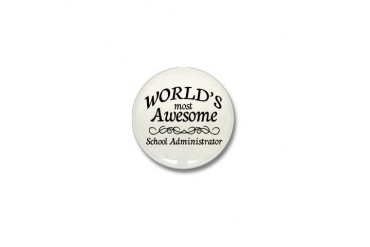 Awesome Teacher Mini Button by CafePress
