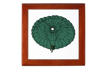 Paratrooper Coming Down Military Keepsake Box by CafePress
