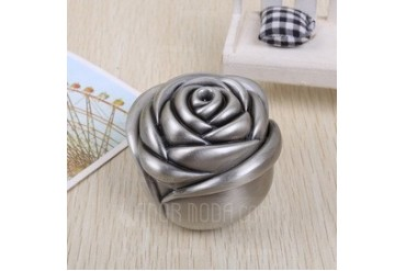 Flower Shaped Alloy Ladies' Jewelry Box (011042617)