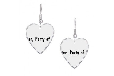 Bitter2.png Humor Earring Heart Charm by CafePress