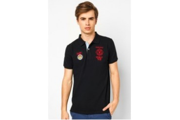 Playboy Embroidery Pattern Polo Shirt