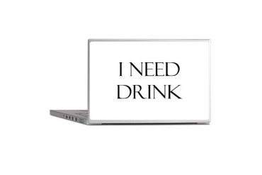 I Need Drink Cupsreviewcomplete Laptop Skins by CafePress