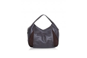 Copacabana Grainy Leather and Nabuck Shoulder Bag
