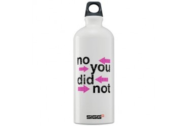 NO YOU DID NOT.jpg Humor Sigg Water Bottle 1.0L by CafePress