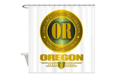 Oregon Gold Label Oregon Shower Curtain by CafePress