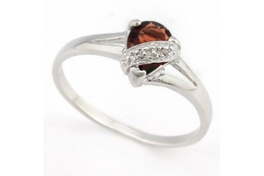Priceless ! 4 5 Carat Garnet amp Diamond 925 Sterling Silver Ring
