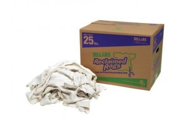 SELLARS WIPERS amp SORBENTS 99211 RECLAIMED RAGS - WHITE TURKISH TWL