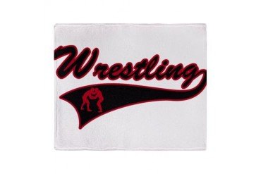 Red and Black Wrestling Stadium Blanket Sports Throw Blanket by CafePress