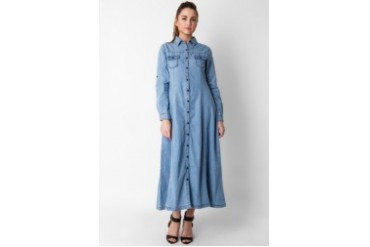 Triset Long Sleeve Long Dress
