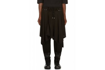 D.gnak By Kang.d Black Jersey Layered Pants