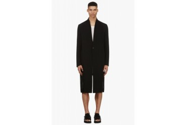 Ma Julius Black Woven Coat