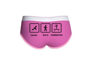 Gymnast - Balance Beam Funny Women's Boy Brief by CafePress