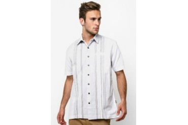 Intresse Casual Short Sleeve Cotton Dobby Stripes