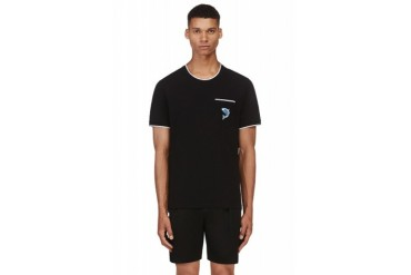 Kenzo Black Fish Applique T shirt