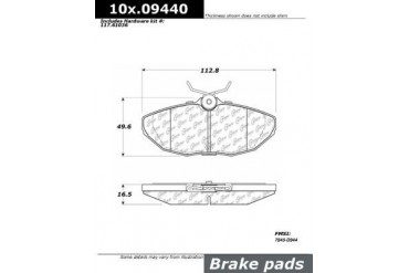 2004 Jaguar XJ8 Brake Pad Set Centric Jaguar Brake Pad Set 105.09440 04