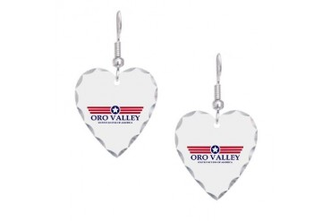 Oro Valley Pride Arizona Earring Heart Charm by CafePress