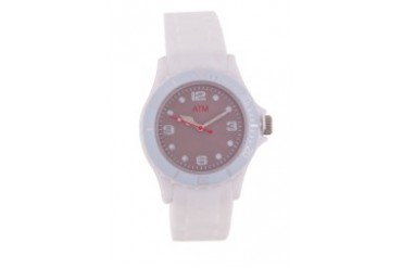 A Time Machine ATM 1002WSWW White Silicon Strap Watch