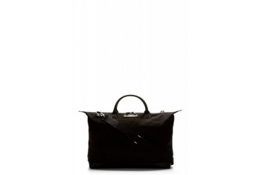 Want Les Essentiels De La Vie Black Canvas And Leather Hartsfield Weekender Bag