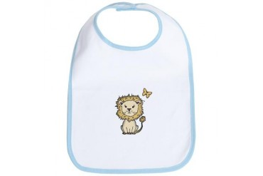 lion and butterfly png.png Animals Bib by CafePress