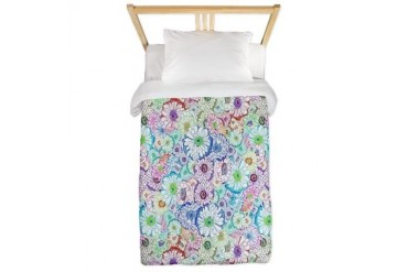 Fragile Flowers Cool Twin Duvet by CafePress