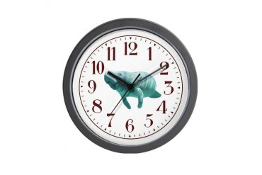 Manatee Cute Wall Clock by CafePress