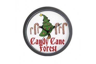 Candy Cane Forest ELF Movies Wall Clock by CafePress